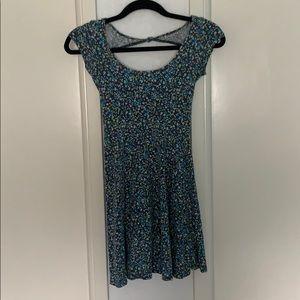 Blue/Green floral mini dress